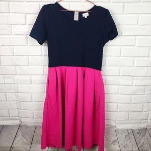 Lularoe | Amelia back zip dress pockets